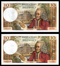 Billet France - 10F Voltaire - 01.06.72 - S 771 - PAIRE NEUFS - Fay : 62.56