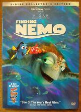 Finding Nemo Collector's Edition 2-Dvd Set New Pixar Disney Animation Family Kid