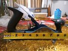 Vintage Stanley Wood Plane Made In England Blue With Black Plastic Handles