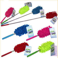 EXTENDABLE TELESCOPIC Cobweb MICROFIBRE CLEAN FEATHER DUSTER EXTENDING BRUSH O