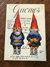 Harry N. Abrams & Rien Poortvliet Hardcover Gnomes Book From 1976
