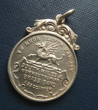 Stg. Silver Welsh Medal 1930  Wales & Monmouthshire Brass Band Association