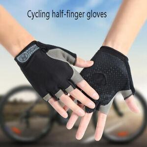 Cycling Half Finger Short Gloves anti-skid Shockproof Breathable MTB Bike Gloves