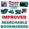Onan BGM Marquis SERVICE MANUAL, OPERATOR, INSTALLATION, PARTS -7- MANUALS SET