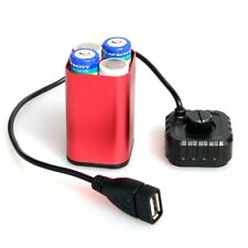 5V USB Waterproof Portable 4X AA Battery Charger Holder Kit Power Bank Case Box