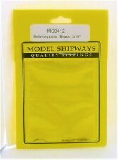 """Model Shipways Fittings MS0412 Brass Belaying Pins 3/16"""" (5MM) 20 Pieces - NEW"""