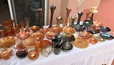 50 PIECE LOT rare antique carnival glass Northwood Fenton Imperial glassware (2)