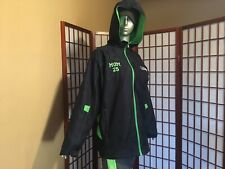 Mama Sherman NFL Seattle Seahawks Blue Fleece Lined Hooded Fan Jacket Women XL