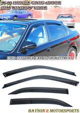 Side Window Rain Guard Visors (Tinted) Fits 96-00 Civic 4dr