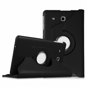 """360 Rotate PU Leather Stand Case Stand Cover For Samsung Galaxy Tab E 9.6"""" T560"""