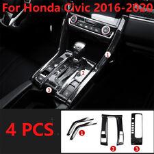 Carbon Fiber Style Center Console Shift Panel Cover for Honda Civic 2016-2020 (Fits: Honda)