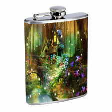 Fireflies D7 Flask 8oz Stainless Steel Hip Drinking Whiskey Insect Glow Bugs