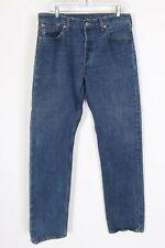 Vintage Levis 501 Button Fly Blue Denim Jeans Usa Mens Size 34x34