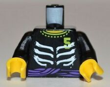 LEGO - Minifig, Torso Ninjago Ribs and Purple Belt & Number 5 Pattern - Black