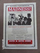 MADNESS LIVE AT THE HACKNEY EMPIRE ORIGINAL 2008 GIG POSTER.