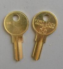 2 Fort Lock Single Sided Key Blanks 54G - 5 Wafer - Original- FREE code cutting