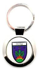 Irish Round Metal Bag Purse Keyring Charm Offaly County Crest Shield