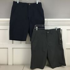 OCEAN CURRENT NWT MEN'S CHINO SHORTS LOT OF TWO GRAY & NAVY BLUE