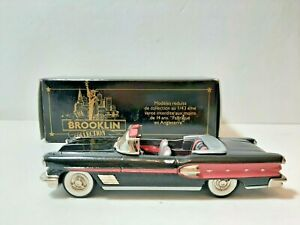 Brooklin Models, BRK25 1958 Pontiac Bonneville White Metal Model  WITH PINK DET