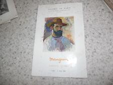 1962.Catalogue exposition Manguin.Tableaux fauves..