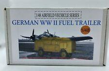 Airfield Vehicle German WWII Fuel Trailer Resin kit 1/48