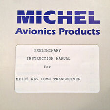 TKM Michel MX-385 Nav Com Service Manual