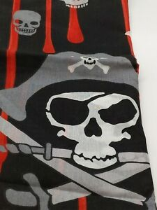 Bedding Skull Crossbones Bed Skirt Full Size 2 Standard Pillow Shams