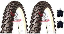2 Copertoni MTB 26 Per Bici Bicicletta Mountain Bike 26x1.75 Gomme + 2 CAMERE