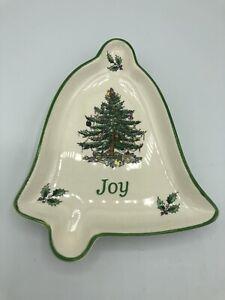 SPODE Christmas Tree S3324-A7 JOY Bell Trinket/Nut/Candy Dish