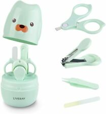 Baby Nail Kit, Livebay 4-in-1 Baby Manicure Kit with Stainless Steel Baby Nail C
