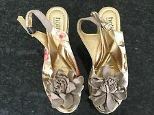 Hotter Comfort Ladies Wedge Slingback Peep Toe Shoes Size 3. Great Condition.