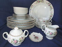 Creative REGENCY ROSE Dinner & Bread Plate, Bowl, Cup, Saucer
