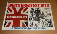 The Who Greatest Hits Promo 1983 Original Promo Poster 23x35