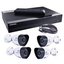 Security Camera Surveillance System Home Samsung 4-Ch 1TB 720p HD DVR Led Video