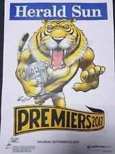 RICHMOND TIGERS 2017 AFL Premiership Poster Mark Knight WEG