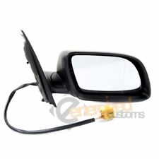 VW Polo Mk5 9N 2002-2005 Black Electric Door Wing Mirror Drivers Side Right O/S