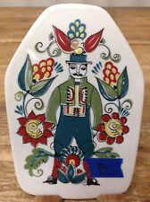 Figgjo Figgio Flint Saga Norsk Norway Folk Wall Plaque #B King Chip Man Flower