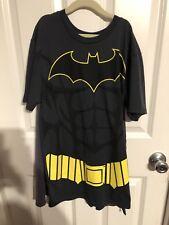 Batman Short Sleeve Tee-Shirt With Cape Halloween Junior Size Small EUC