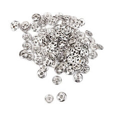 50Pc Silver Metal Sew on Snaps Fasteners Button Poppers DIY Crafts Tool 10mm Set