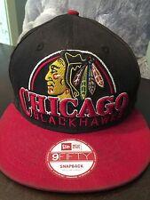 NEW ERA HAT CAP ADJUSTABLE SNAPBACK NHL CHICAGO BLACKHAWKS M-L size