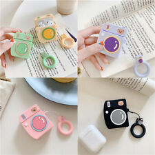 3D Cute Cartoon Camera Silicone Soft Case Cover Ring For Apple Airpods 1 2 Pro