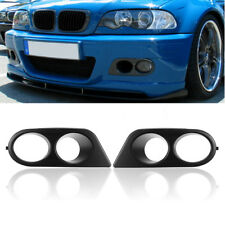2x Front Bumper Carbon Fiber Fog Light Cover Air Duct Kit For 01to06 BMW E46 M3