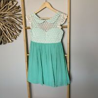 Toby Heart Ginger Size 10 Green Dress Lace Sheath A-Line NEW NWT