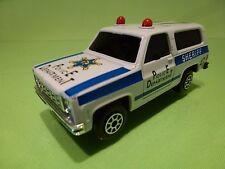 CHINA 9031 CHEVROLET TRUCK - POLICE No 37 SHERIFF - WHITE BLUE 1:40? - GOOD