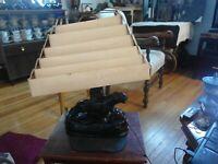 Original 1950s Black Panther TV Lamp & Planter Original  Shade