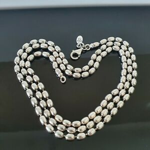 Pandora Rice Ball Chain Sterling Silver Necklace 60cm 590143 Free Postage