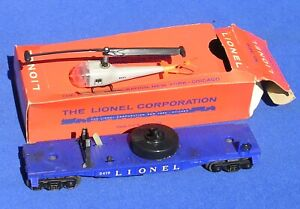 Post-War Lionel 3419 Operating Helicopter Car EX w/Box 1959