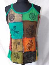 FAIR TRADE HIPPY BOHO ETHNIC FESTIVAL SUMMER STRAPPY COTTON VEST TOP Xl