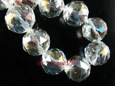 2pcs Clear AB Glass Crystal Faceted Round Beads 20mm Spacer Jewelry Findings