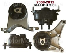 9M1129 4pc Motor Mounts fit 3.6L Chevy Malibu 2008 - 2012  Engine Trans Mounts